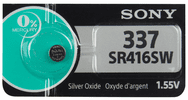 Sony 337TS, SR416SW Silver Oxide Button Cell Batteries