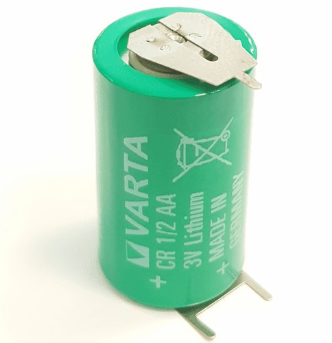 Varta CR1/2AA Lithium Battery with 3-Pin (2-pin [+] 8mm), 1/2AA-Size 3 Volts