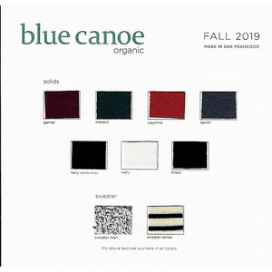 blue canoe fall color card - fall shipments start after 7/15/19