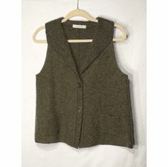 boiled wool pocket vest