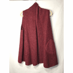 boiled wool swing vest