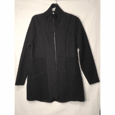 boiled wool zip jacket