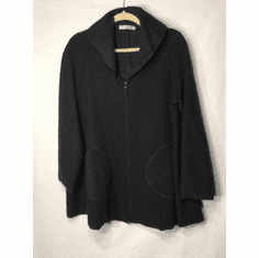 boiled wool zip swing jacket