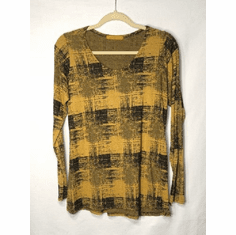 burst plaid modern top