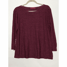charcoal stripe boatneck top