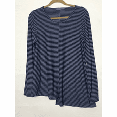 charcoal stripe center seam top