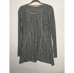 charcoal stripe pocket top