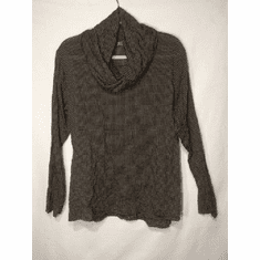 check shirting cowl neck pullover