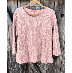 crinkle stripe aline top