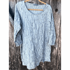 crinkle stripe split tunic