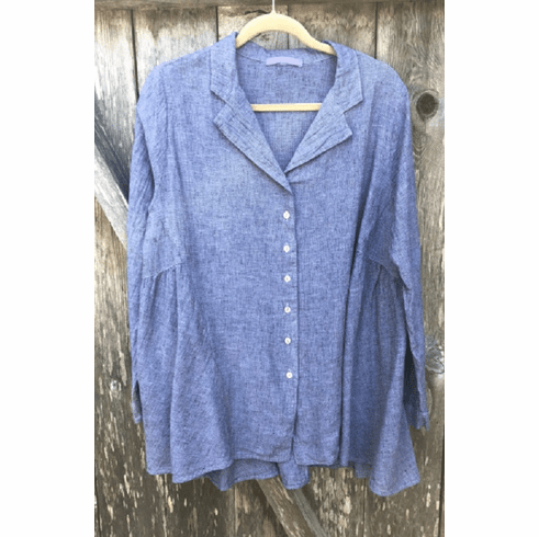 cross hatch ruched shirt