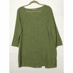 crosshatch split tunic