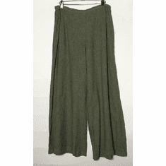 crosshatch wide leg ankle pant