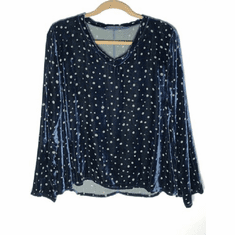 dot burnout v-neck pullover