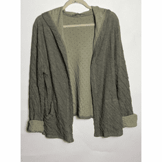 double cloth hooded crop jacket
