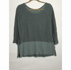 double cloth raglan border top