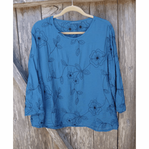 embroidered parachute aline top