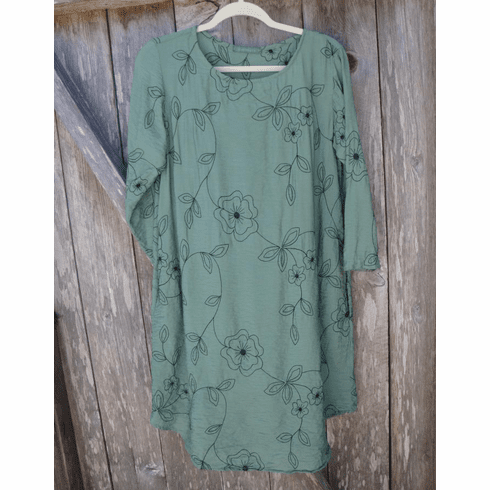 embroidered parachute dress