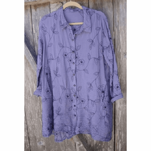 embroidered parachute shirt tunic