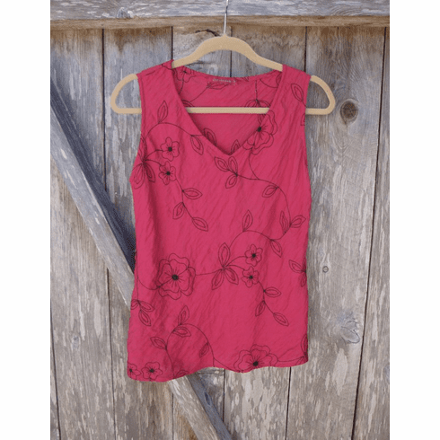 embroidered parachute tank