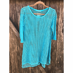 fishnet 3/4 sleeve long top