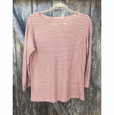FL stripe boatneck top