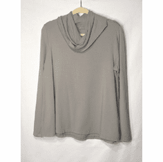 fleece cowl neck pullover