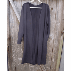 fleece long cardigan
