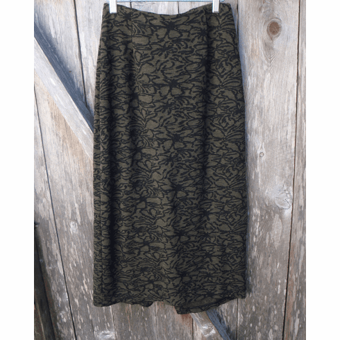 floral crimped jacquard long skirt