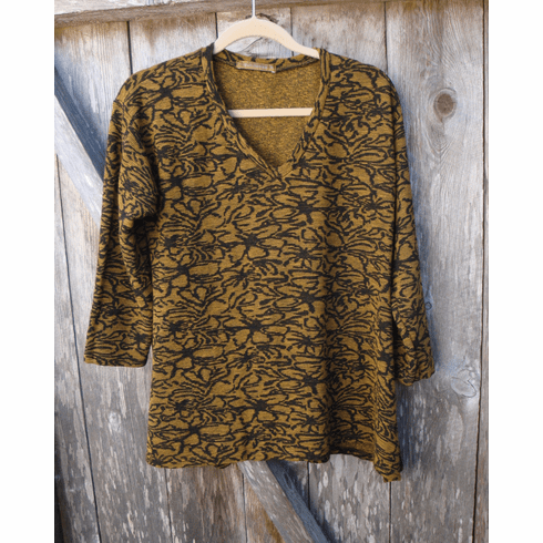 floral crimped jacquard swing tee