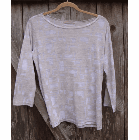 graphic burnout boatneck tee