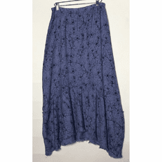 graphic floral flounce skirt