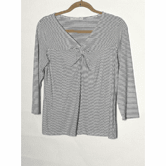 grey jersey stripe knot top