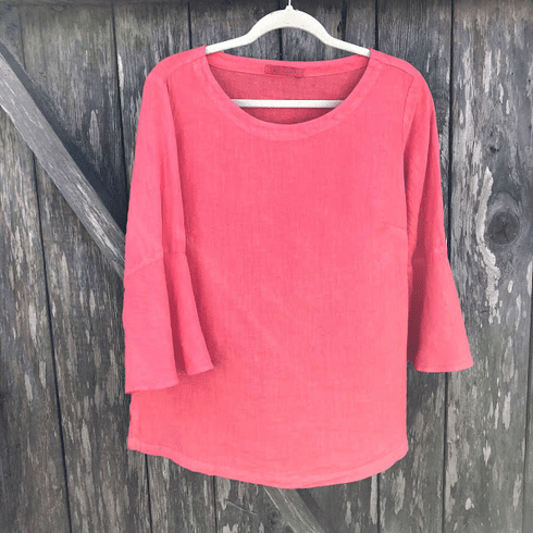 hanky linen bell sleeve top