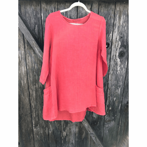hanky linen side pocket tunic