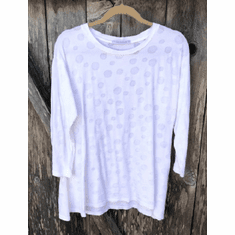 knit dot swing top
