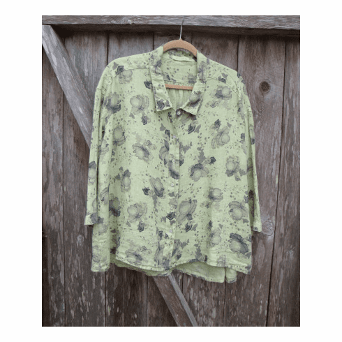 leoni floral high low shirt