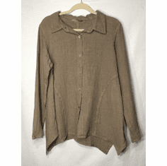 linen asymmetrical shirt