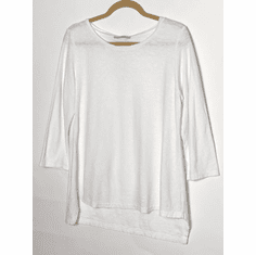 linen cotton crop tee