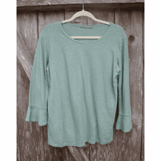 linen cotton flare sleeve tee