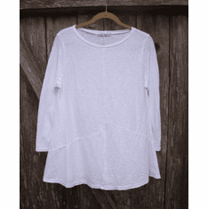 linen cotton peplum tee