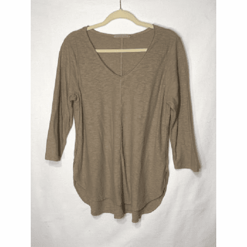 linen cotton v-neck top