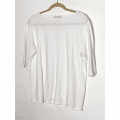 linen jersey elbow sleeve top
