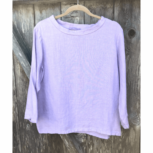linen mock neck top