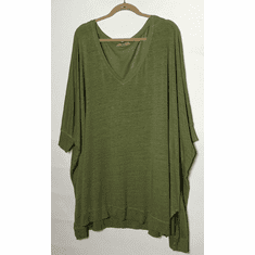 linen sweater v-neck top