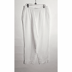 linen tapered crop pant