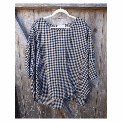 mini check Osize pullover