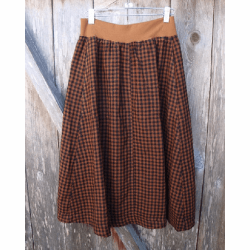 mini check riding skirt