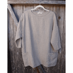 natural linen Osize pocket tunic