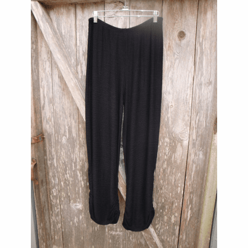 pucker stripe ruched pant